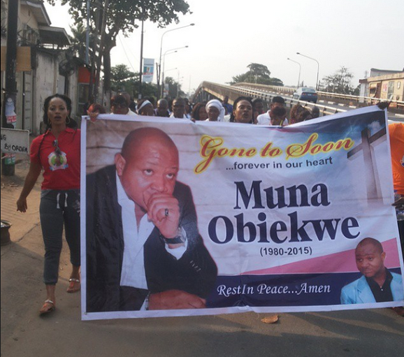 Candle Light Procession For Actor Muna Obiekwe.. 2