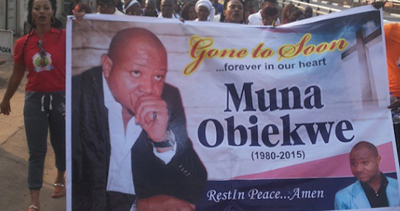 Candle Light Procession For Actor Muna Obiekwe
