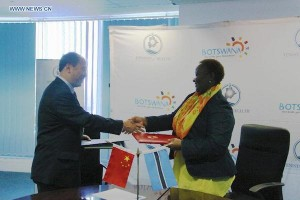 China and Botswana have signed an agreement that China