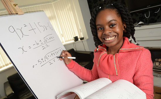 Esther Okade: 10 year old Esther is studying for a degree