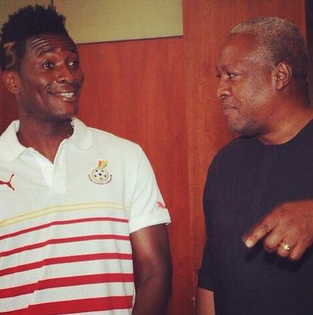 Ghana Black Stars asamoah gyan and John Mahama