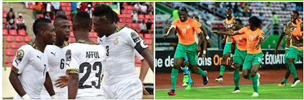 AFCON2015  Finals: Ghana Vs Ivory Coast