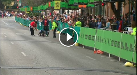 Kenyan Athlete Hyvon Ngetich Crawls To The Finish Line