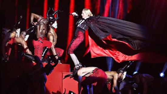 2015 Brit Awards: Madonna Violently Yanked to Ground During Concert