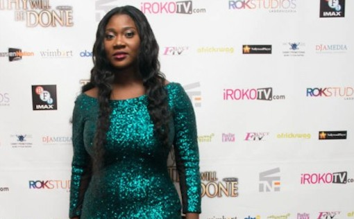 Ramsey Noah…Mercy Johnson At The Premier Of The Movie Thy Will Be Done