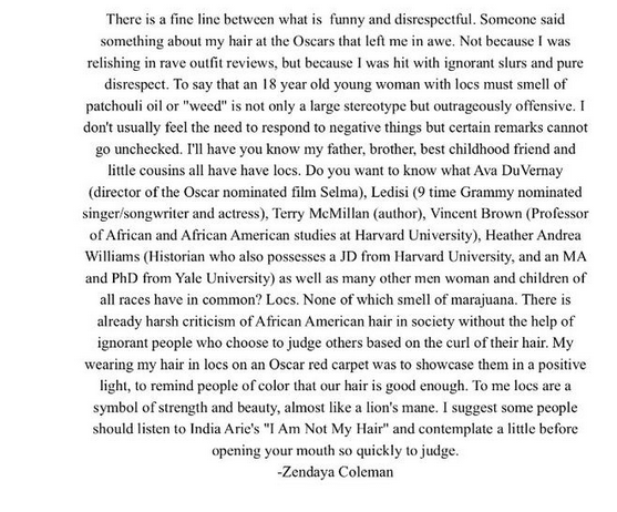 Zendaya Coleman Responds to Giuliana Rancic