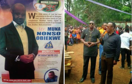 Nollywood Actor Muna Obiekwe Laid To Rest Today