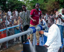 Celebs Who Give Back: Asamoah Gyan Foundation commissions Water Pump House project in Wenchi