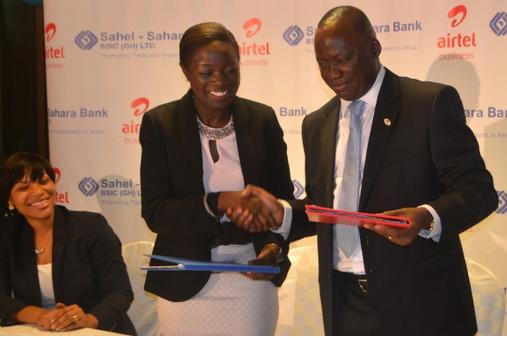 Airtel Ghana and Sahel Sahara Bank sign MoU