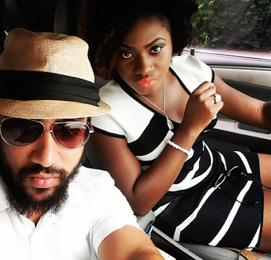 Majid Michel and Martha Ankomah on set 'Bonnie and Clyde' film