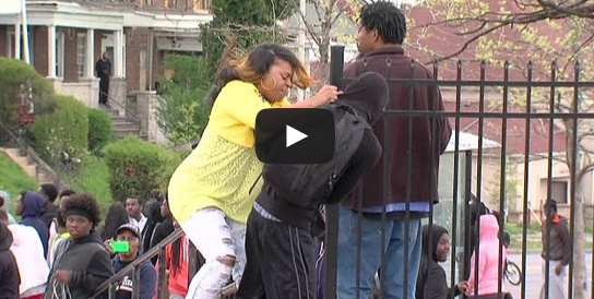 Baltimore Riots: Mother smacks son for participating in Freddie Gray Protest
