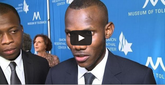 Lassana Bathily honoured by Simon Wiesenthal centre