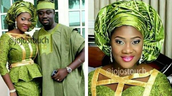 Mercy Johnson and Hubby At Their Sons church dedication