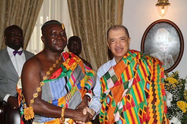 Ashanti King Of Ghana Otumfuo Osei Tutu II In Seychelles