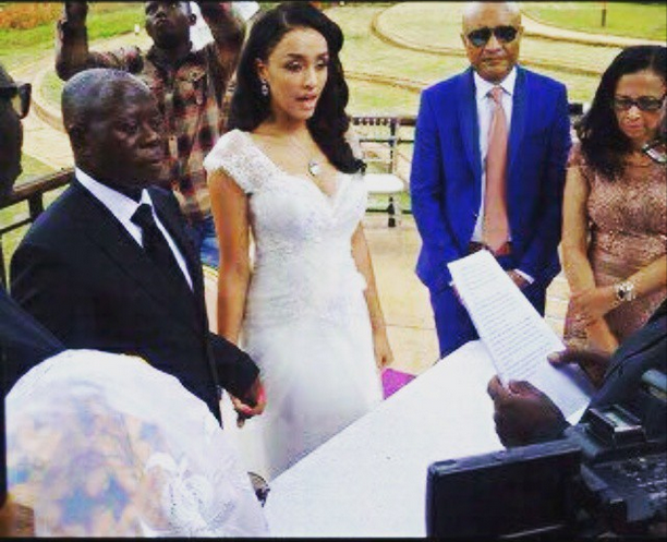 Governor of Edo State Adams Oshiomhole Tied The Knot With  Miss Lara Fortes