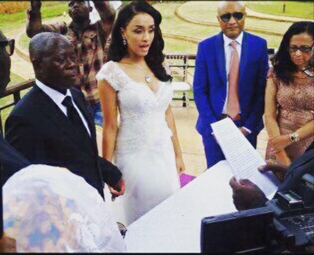 Governor of Edo StateAdams Oshiomhole Tied The Knot WithMissLara Fortes