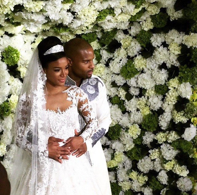 Congrats: Miss Universe Leila Lopez Weds NFL Star Osi Umenyiora