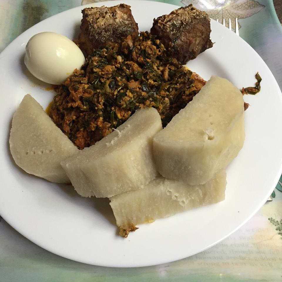 African cuisine: Good Old ‪‎Yam‬ And Nkotomere‬