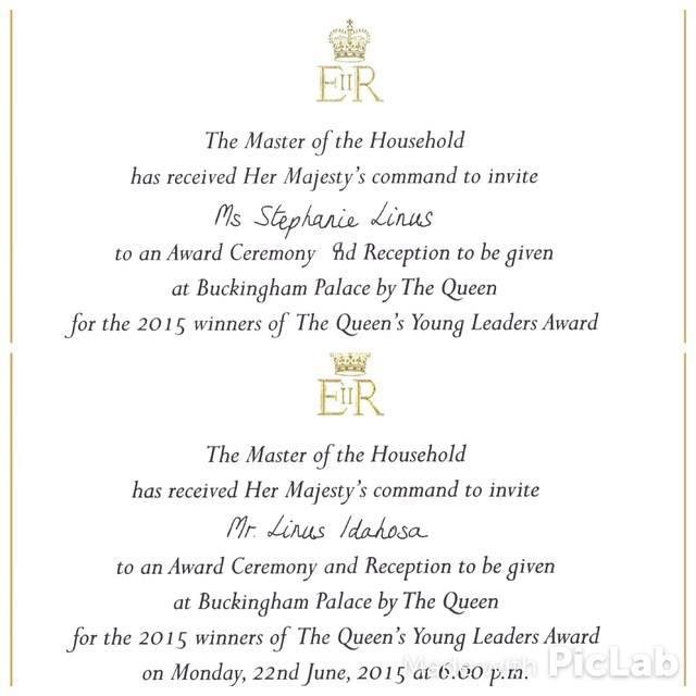 Stephanie Okereke  Linus Honoured By Queen