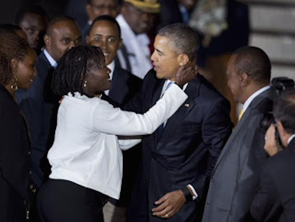 Family Time: Dr Auma Obama Welcomes President Barack Obama