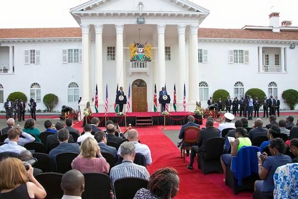 President Barack Obama and President Uhuru Kenyatta At StateHouse Kenya