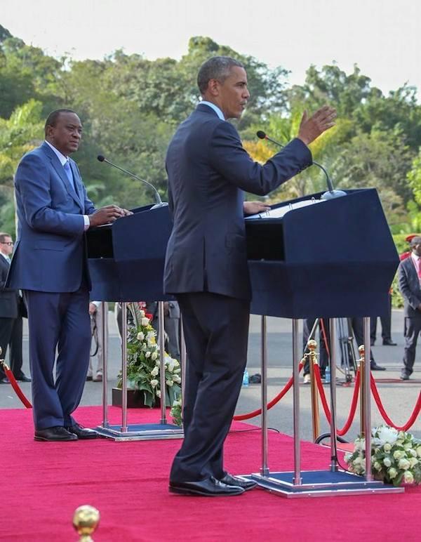 President Barack Obama and President Uhuru Kenyatta .