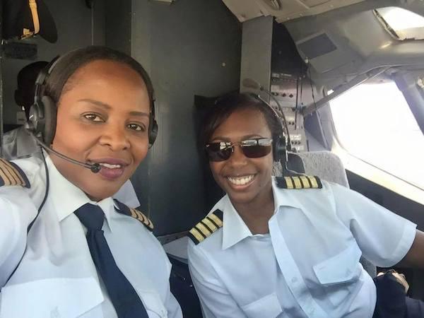 Captain Chipo M. Matimba and Captain Elizabeth Simbi Petros.