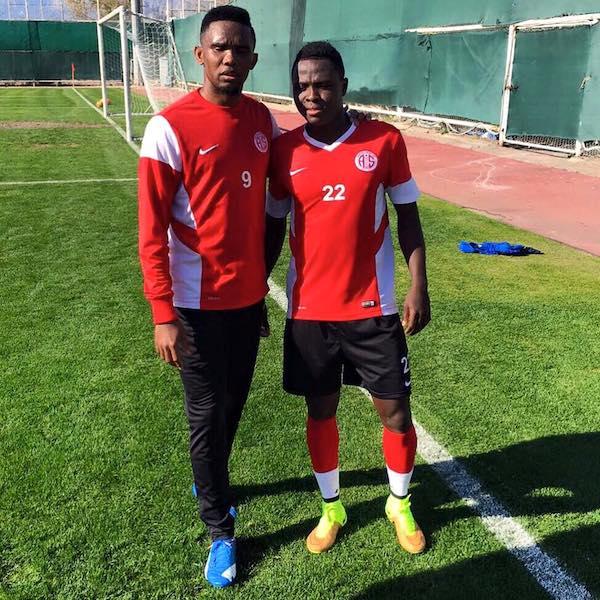 samuel eto'o and samuel  Inkoom after training
