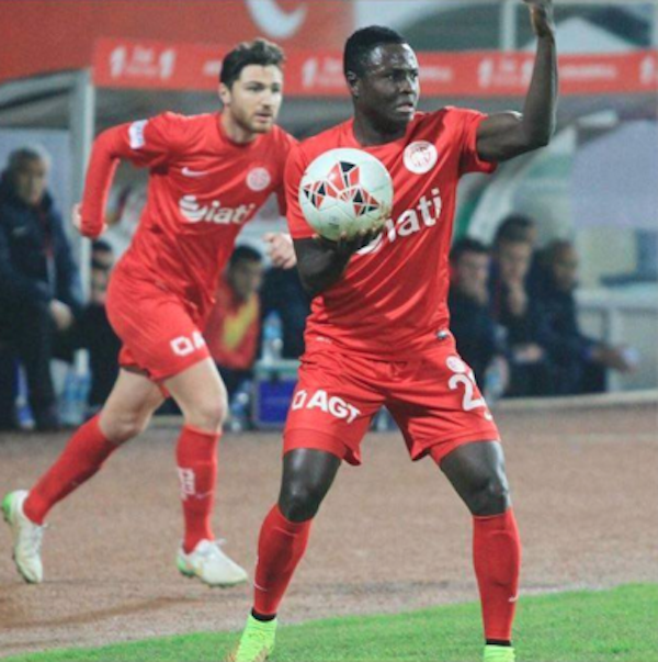 Antalyaspor in Turkish Cup win:  Samuel Inkoom in action