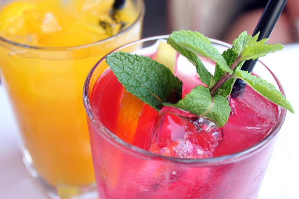 Cocktail Fruit Drink Mint Refreshment Drink Tasty