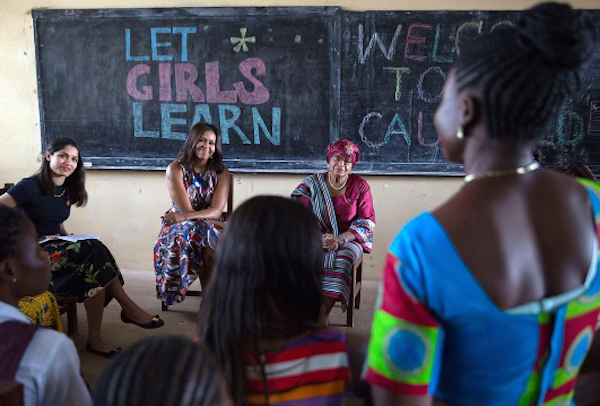 Education For Girls: Michelle Obama In Liberia
