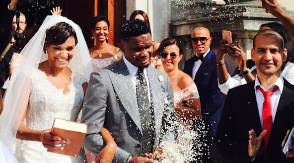 Samuel Etoo Marries Partner Georgette Tra Lou In Italy…