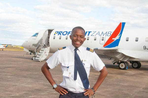 Youngest Commercial Pilot In Zambia Kalenga