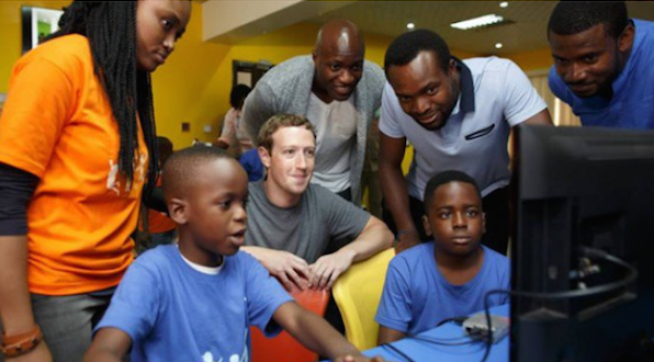 mark zuckerberg in nigeria..