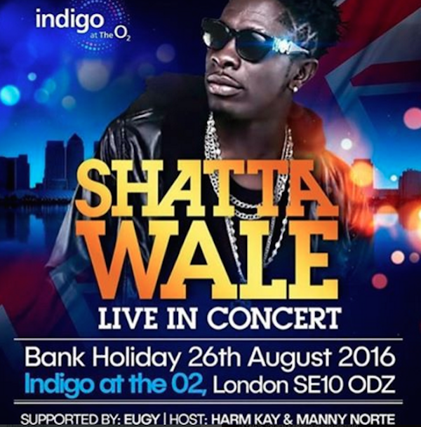 Indigo O2 Greenwich: Shatta Walegh Live In Concert This Friday…