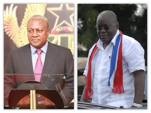 Ghanaians Go To The Polls today… Nana Akufo Addo vs John Mahama