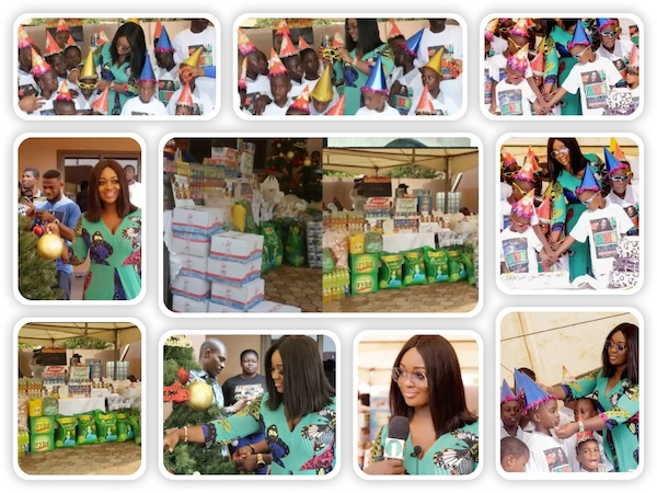 On 5th, December 2016 Jackie Appiah spent her birthday with the kids of Safe Haven Foster Home