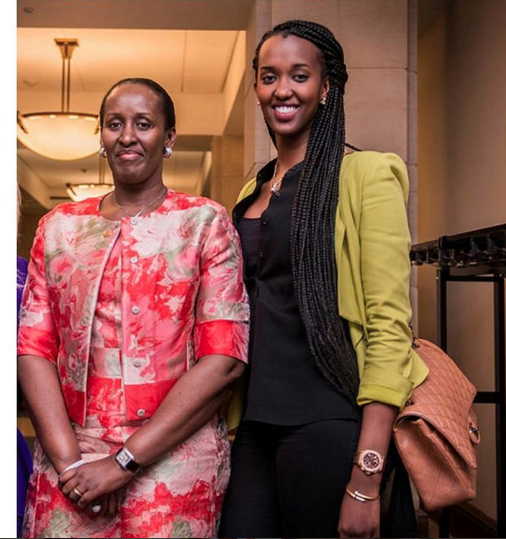 Ange Kagame and mother, Jeannette kagame who is also very passionate about charity work