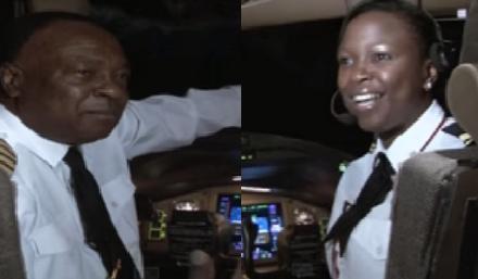 CaptainMwangiand daughter Emma Mwangiof Kenya Airways