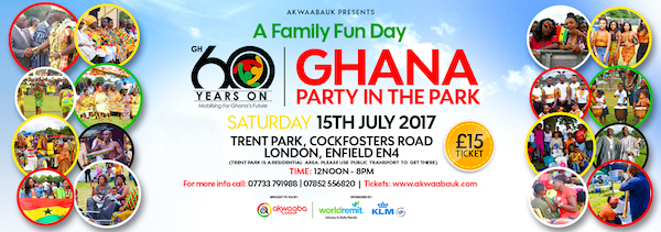 GHANA PARTY IN THE PARK 2017: 15 July 2017 at Trent Park, Enfield