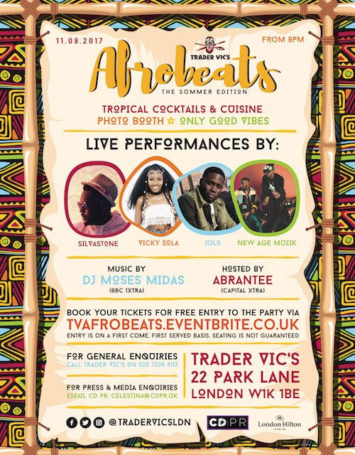 Afrobeats At London Hilton Park Lane