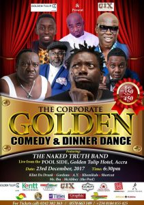 Laugh out loud with the most notable African comedians, AY, Mr Ibu, Klint Da Drunk,  Gordons, Mc Abbey (the Prof), Shortcut, Khemikals and more.