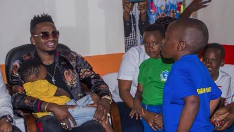 Celebs Who Give Back: Diamond Platnumz Visits Jordan Foundation In Rwanda