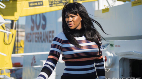 "Human Trafficking Awareness: Stephanie Linus Visits The Rescue Ship ""Aquarius"""