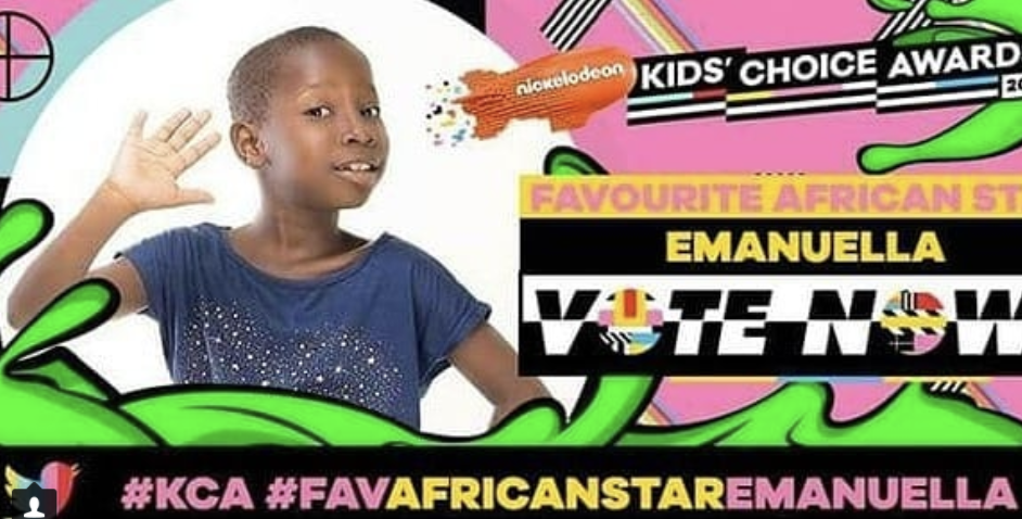 Nickelodeon Kids Choice Awards: Vote For Nigerian Comedian Emanuella….