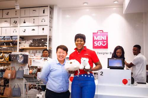 Photos of Stephanie Linus, Brand Ambassador of MINISO at the Abuja Store Launch