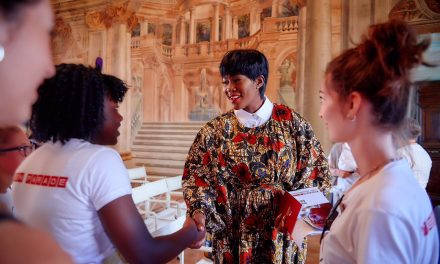 Stephanie Linus At The 'Dialoghi in Spoleto' & Carla Fendi Foundation event In Italy