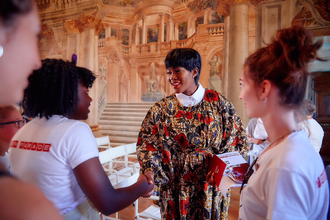 African Celebrities who give back: Stephanie Linus At The 'Dialoghi in Spoleto' & Carla Fendi Foundation event In Italy