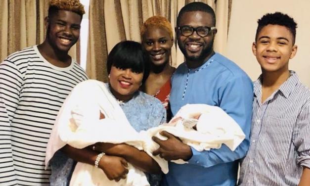 Photos Of Nigerian Actress Funke Akindele Bello's Twin Boys…