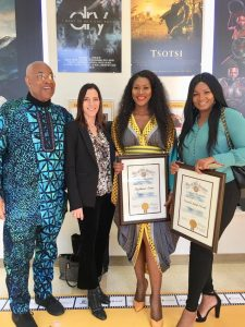 Stephanie Linus Gets Special Recognition for DRY at the Black History Month ahead of Pan African Film and Arts Festival Screening